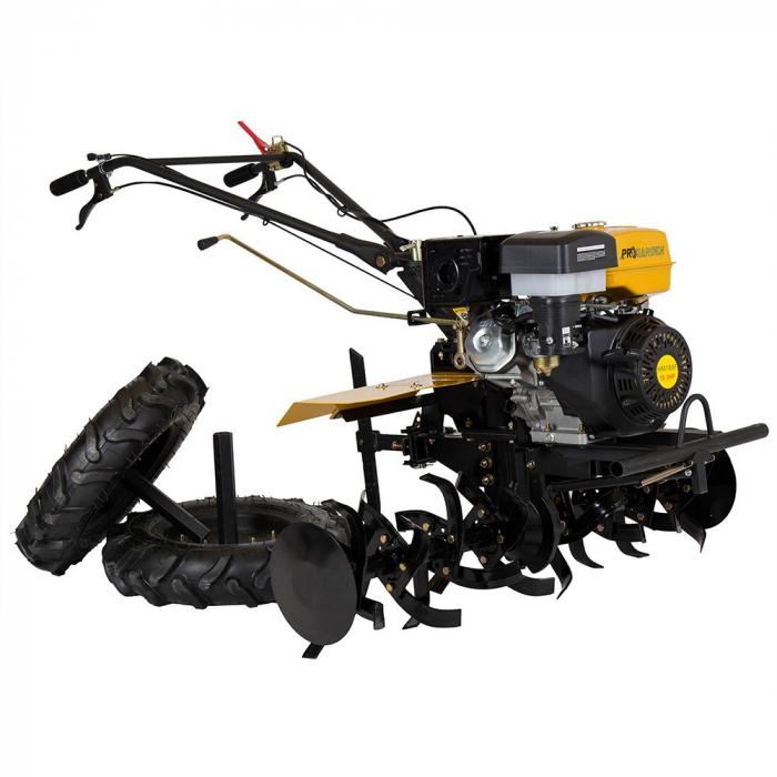 Motocultor 13CP ProGARDEN HS1100D, 2+1, roti 6.00-12, far, benzina 5