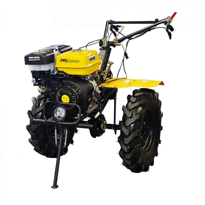Motocultor 13CP ProGARDEN HS1100D, 2+1, roti 6.00-12, far, benzina 0