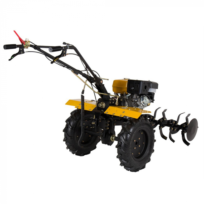 Motocultor 13CP ProGARDEN HS1100D, 2+1, roti 6.00-12, far, benzina 2