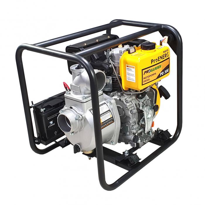 """ProGARDEN PD30E motopompa 3""""/75mm, diesel, apa curata, pornire electrica 0"""