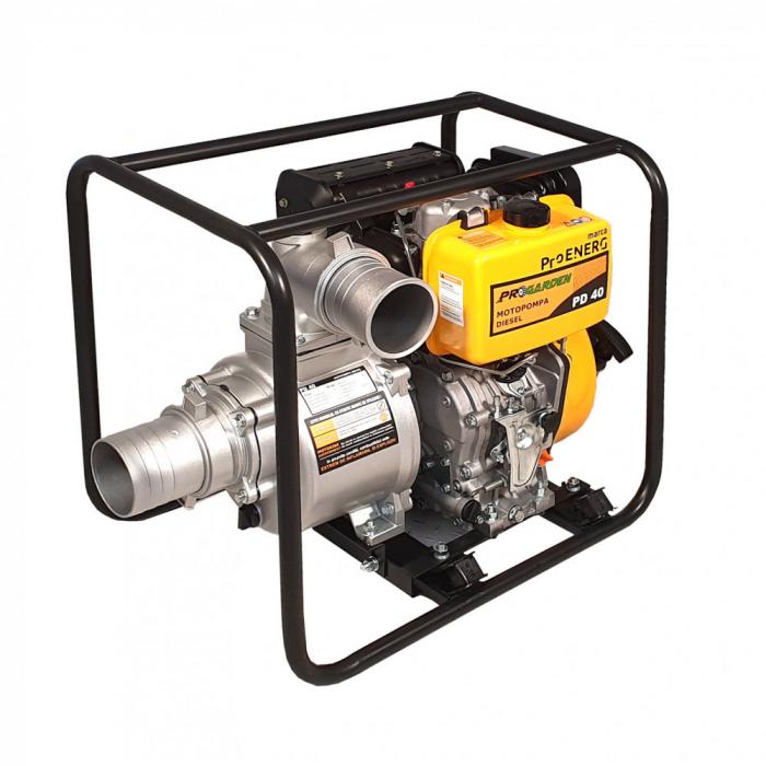 """ProGARDEN PD40 motopompa 4""""/100mm, diesel, apa curata, pornire la sfoara 1"""