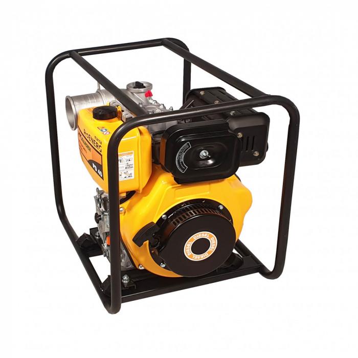 """ProGARDEN PD40 motopompa 4""""/100mm, diesel, apa curata, pornire la sfoara 0"""