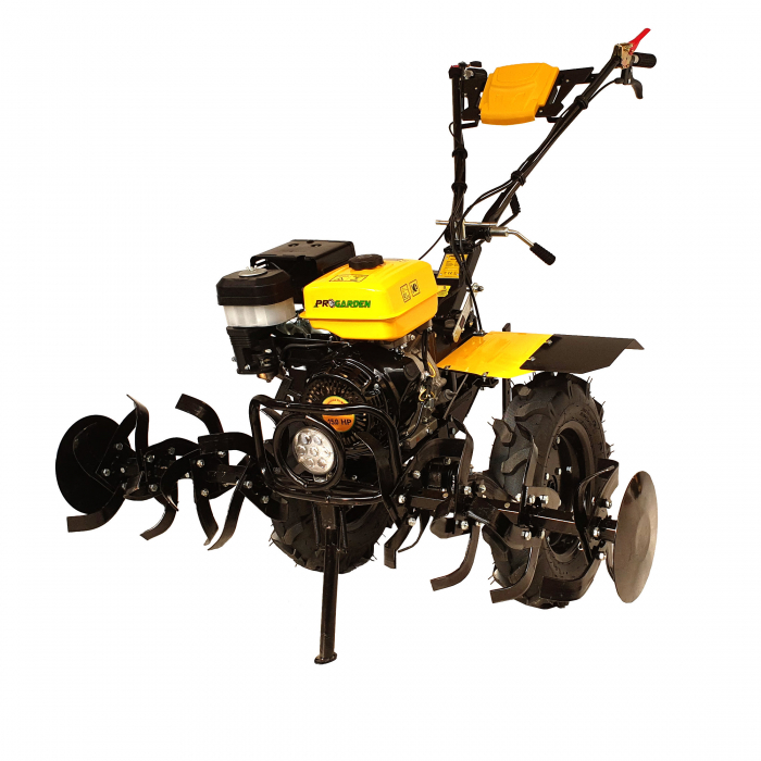 ProGARDEN PRO 15 motocultor 15CP, 2+1, roti 5.00-12, far, benzina [Campo 1503] 1
