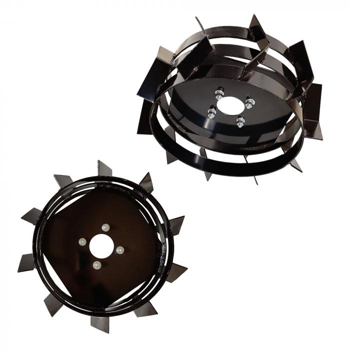 ProGARDEN set roti metalice 440x180, manicot cu flanse, hex 32mm 0