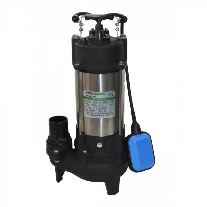 Pompa submersibila apa murdara ProGARDEN V19-12-0.75, 750W, 350L/min, plutitor 0