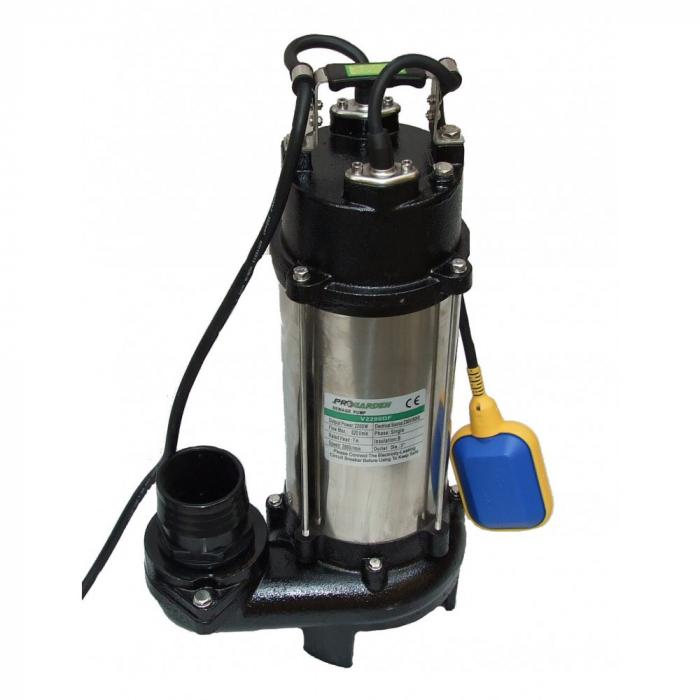 Pompa submersibila apa murdara ProGARDEN V2200DF, 2200W, 520L/min, tocator 0