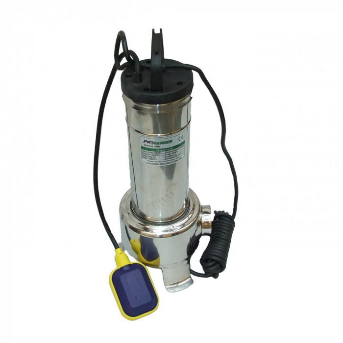 Pompa submersibila apa usor murdara ProGARDEN VSW25-7-1.5F, 1500W, 500L/min 0