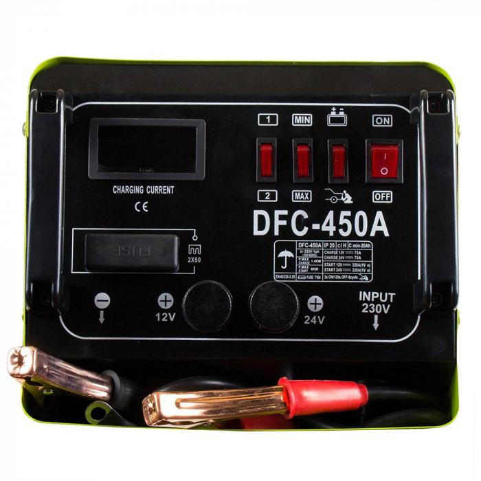 Robot pornire auto Proweld DFC-450A, monofazat 230V, curent incarcare 40/50 A 2