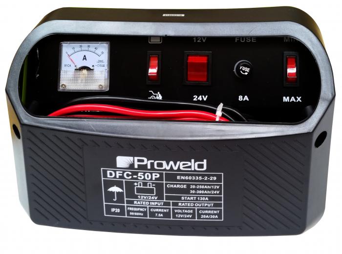 ProWELD DFC-50P redresor acumulatori 12V/24V, functie Start 2