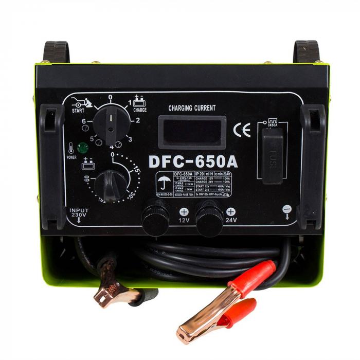 Redresor baterii + Robot ponire auto Proweld DFC 650 A 12V/24V, functie Timer, Start 2