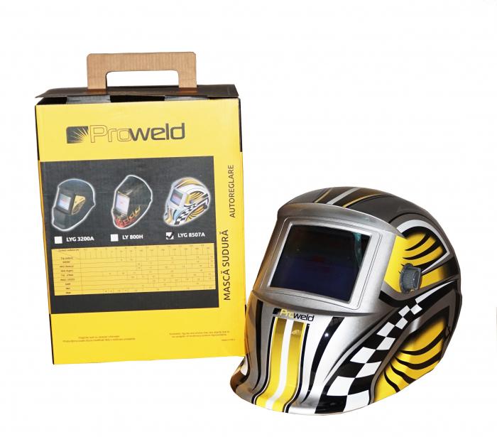 ProWELD LYG-8507A masca sudura automata LCD, reglabila 0