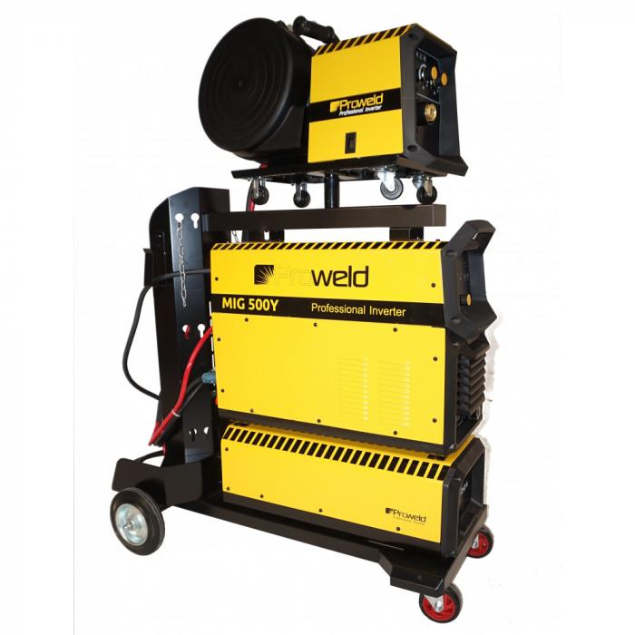 Invertor sudare MIG/MAG profesional ProWELD MIG-500Y, derulator detasabil 1