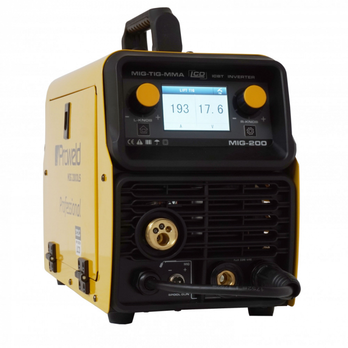 Invertor sudare MIG/MAG ProWELD MIG200GD-LCD, profesional 3