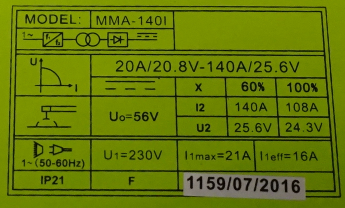 ProWELD MMA-140I invertor sudare 2