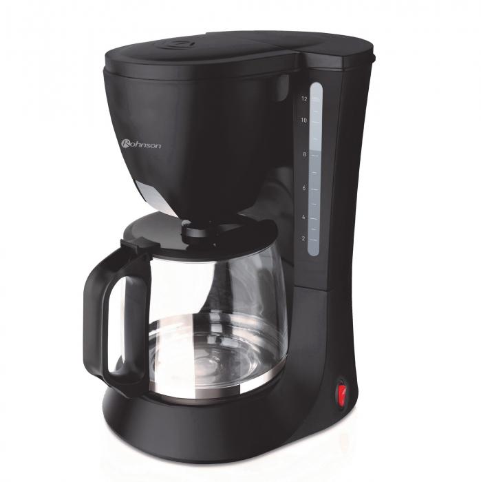 Cafetiera Rohnson R924, 680W, Vas de sticla 1.2L, Negru 0