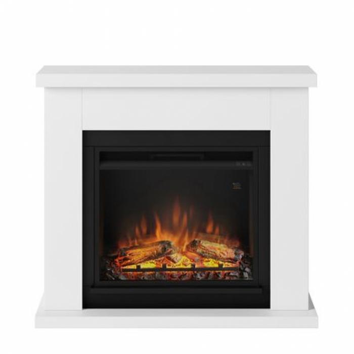 Semineu TAGU Frode Pure White cu Focar Electric PowerFlame, 23 inch, FM461-WH1 + 23PF1A 0