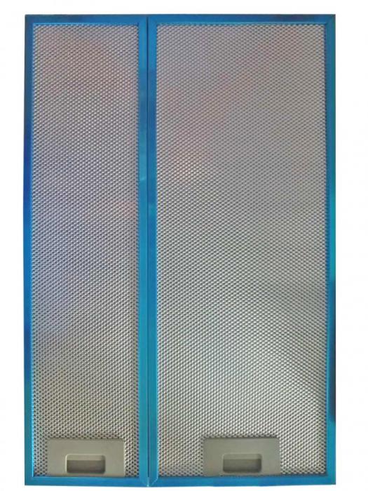 Set filtre aluminiu hota telescopica Heinner AF-440GBK, compatibil cu modelele HTCH-440GBK si HTCH-440FS, 2 buc/set 0