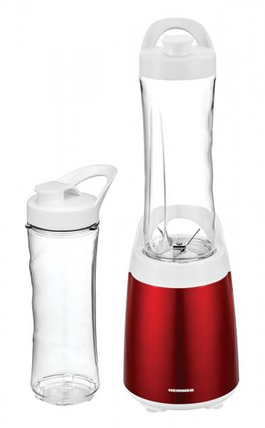 Blender sport Heinner HSB-300RD, 300 W, 2 recipiente tritan 0.6 L, lame inox, Rosu 0