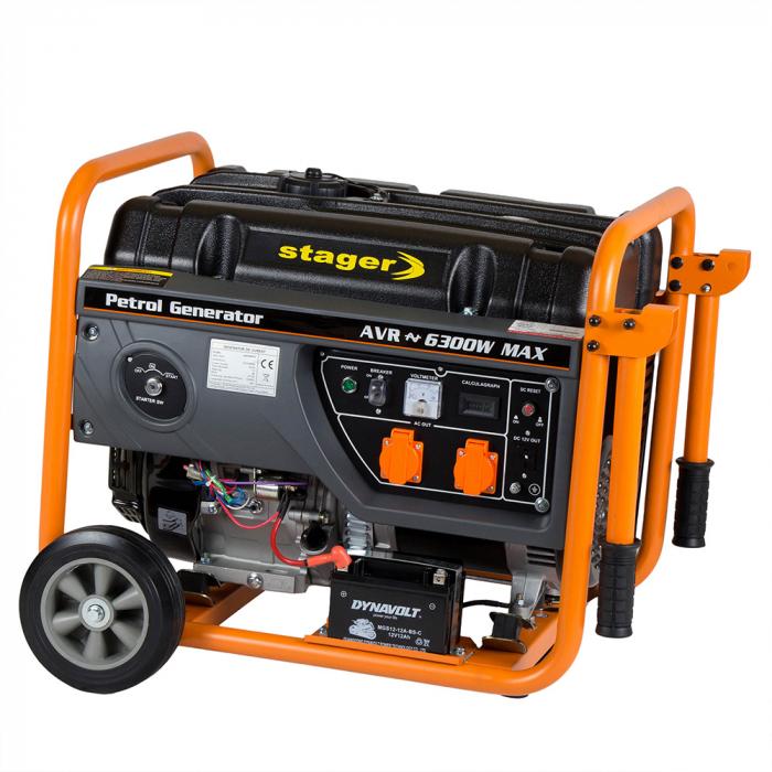 Stager GG 7300EW generator open-frame 5.8kW, monofazat, benzina, pornire electrica 1