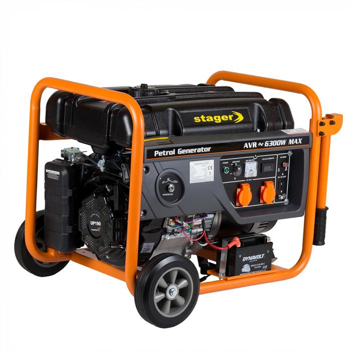 Stager GG 7300EW generator open-frame 5.8kW, monofazat, benzina, pornire electrica 0