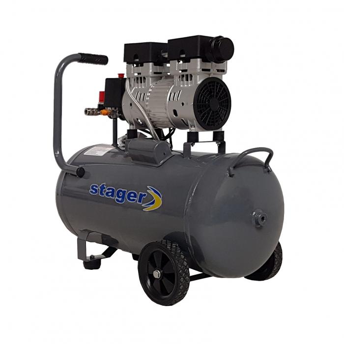 Stager HM0.75JW/50 compresor aer, 50L, 8bar, 165L/min, monofazat, angrenare directa, silentios 1