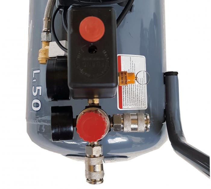 Stager HM0.75JW/50 compresor aer, 50L, 8bar, 165L/min, monofazat, angrenare directa, silentios 2