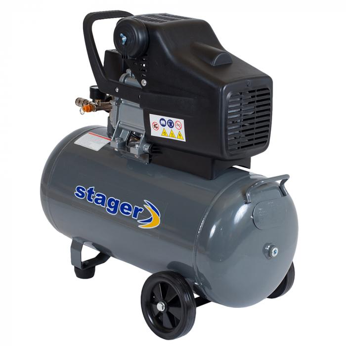 Stager HM2050B compresor aer, 50L, 8bar, 200L/min, monofazat, angrenare directa 0