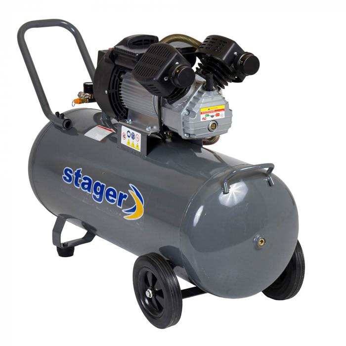 Stager HM3100V compresor aer, 100L, 8bar, 356L/min, monofazat, angrenare directa 0