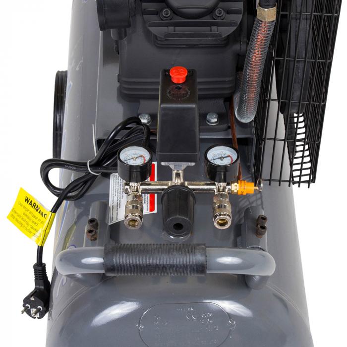Stager HMV0.25/100 compresor aer, 100L, 8bar, 250L/min, monofazat, angrenare curea 2