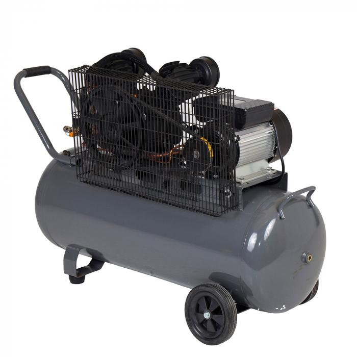 Stager HMV0.25/100 compresor aer, 100L, 8bar, 250L/min, monofazat, angrenare curea 1