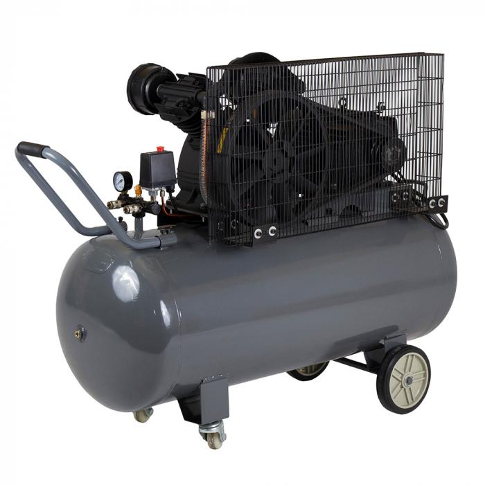 Stager HMV0.6/200 compresor aer, 200L, 8bar, 600L/min, trifazat, angrenare curea 1