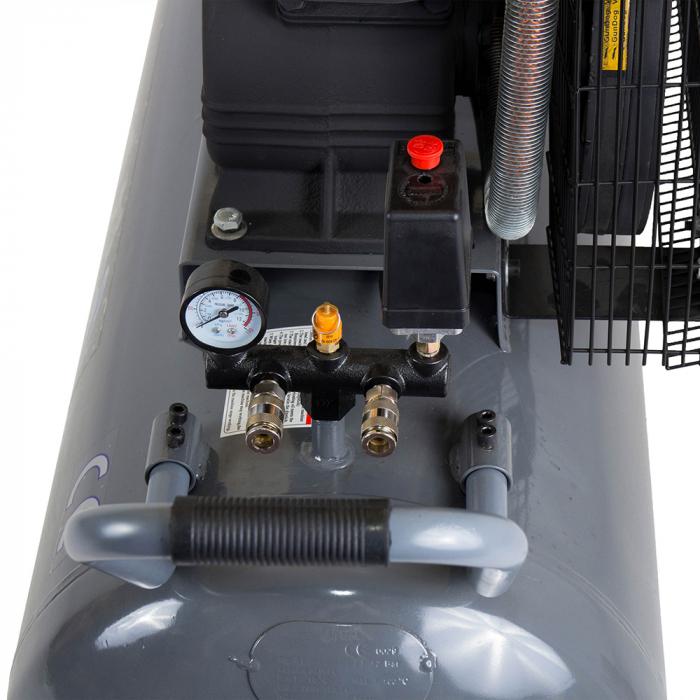 Stager HMV0.6/200 compresor aer, 200L, 8bar, 600L/min, trifazat, angrenare curea 2