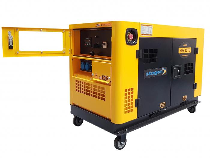 Stager YDE12TD Generator insonorizat diesel monofazat 8.5kVA, 37A, 3000rpm 0
