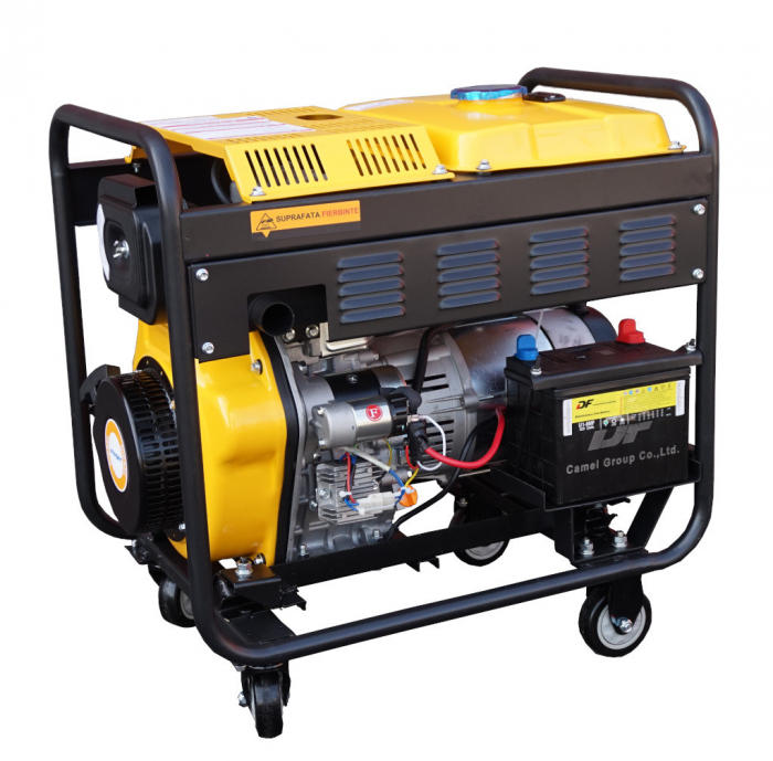 Stager YDE6500E Generator open frame diesel monofazat, 4.5kW, pornire la cheie [2]