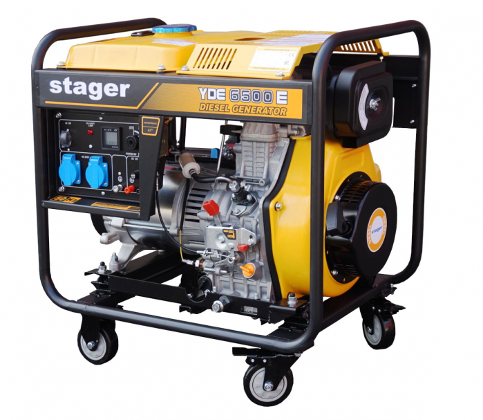 Stager YDE6500E Generator open frame diesel monofazat, 4.5kW, pornire la cheie [1]