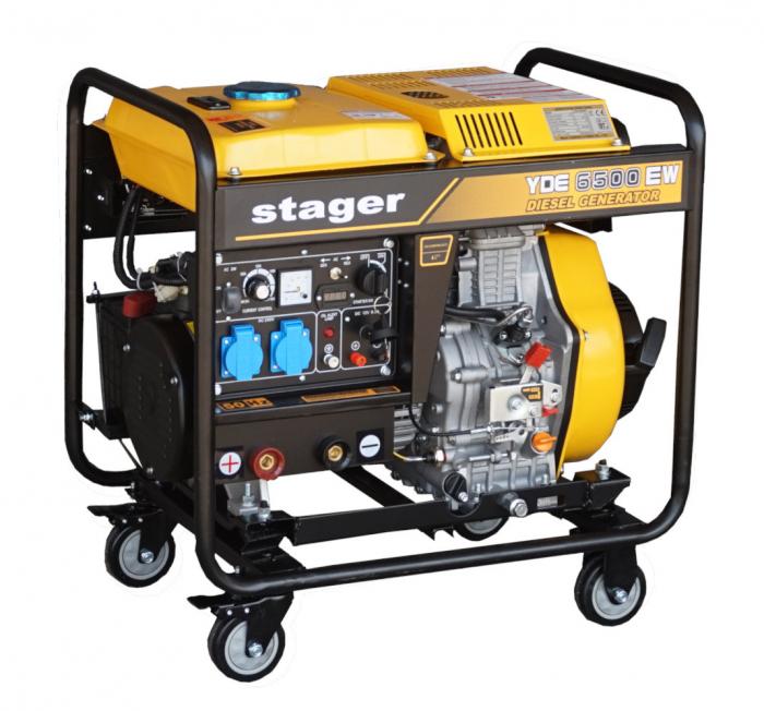 Stager YDE6500EW Generator sudare diesel monofazat, 2kVA, curent sudare 160A, pornire la cheie [2]