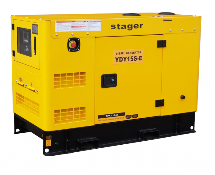 Stager YDY15S-E Generator insonorizat diesel monofazat 14kVA, 20A, 1500rpm [2]