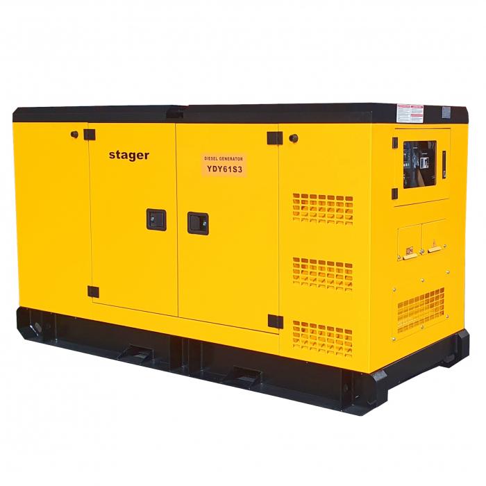Stager YDY61S3 Generator insonorizat diesel trifazat 55kVA, 79A, 1500rpm 1