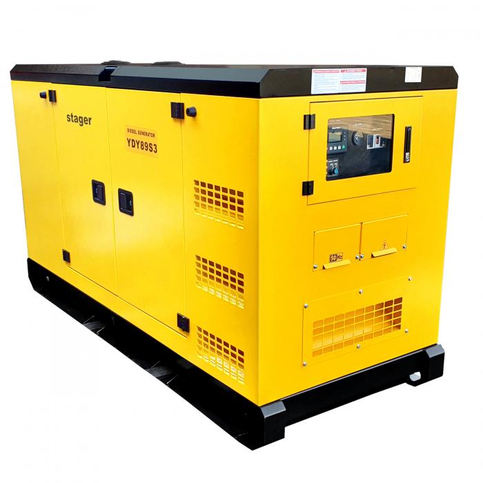 Stager YDY89S3 Generator insonorizat diesel trifazat 80kVA, 115A, 1500rpm 0