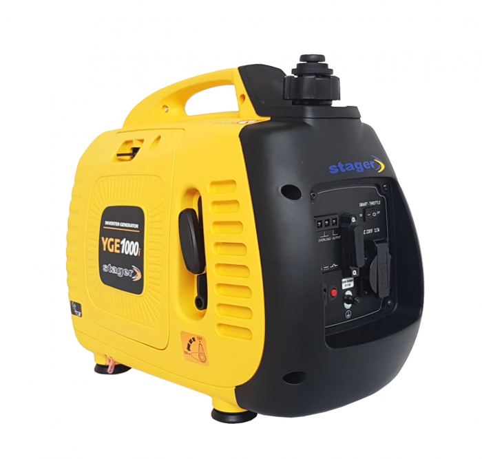 Stager YGE1000i Generator digital invertor monofazat, 0.9kW, benzina, pornire la sfoara [2]