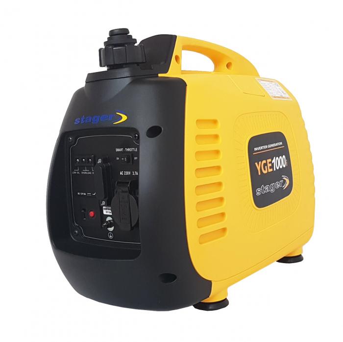 Stager YGE1000i Generator digital invertor monofazat, 0.9kW, benzina, pornire la sfoara [1]