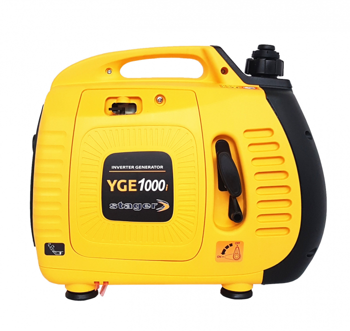 Stager YGE1000i Generator digital invertor monofazat, 0.9kW, benzina, pornire la sfoara [0]