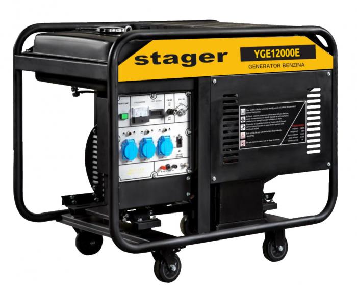 Stager YGE12000E Generator monofazat, 10.0kW, benzina, pornire electrica [0]