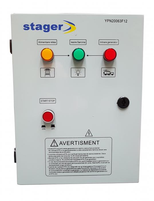 Stager YPN20063F12S automatizare monofazata 63A, 12Vcc, protectie 1