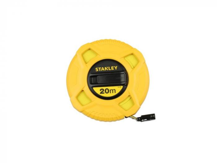 Stanley 0-34-296 Ruleta inchisa standard cu banda fibra de sticla 20m 0