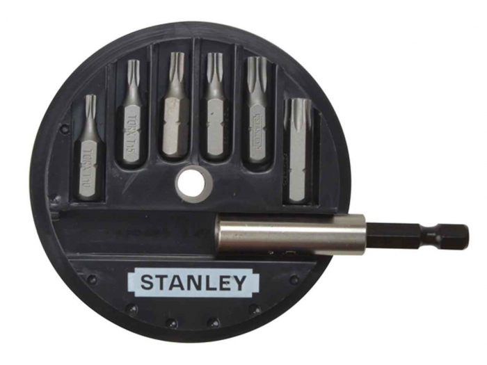"Stanley 1-68-739 Set 7 piese1/4"" - Torx: T10, T15, T20, T25, T30, T40 + adaptor magnetic 0"