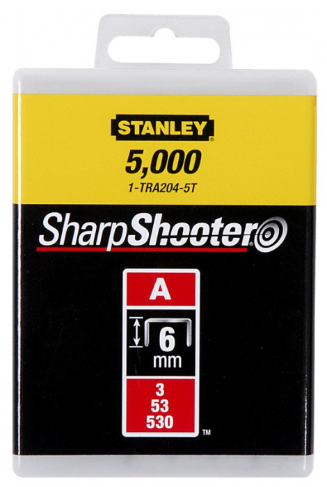 """Stanley 1-TRA202T Capse standard 4 mm / 5/32"""" 1000 buc. tip a 5/53/530 0"""