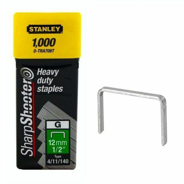 "Stanley 1-TRA708T Capse de inalta calitate 12 mm / 1/2"" 1000 buc. tip g 4/11/140 0"