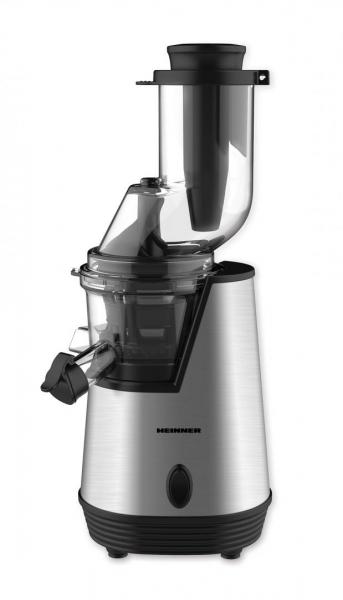 Storcator de fructe cu melc Heinner HSJ-200X, 200 W, 75 Rpm, Tub larg 80 mm, Recipiente fara BPA, Functie reverse, Inox 0