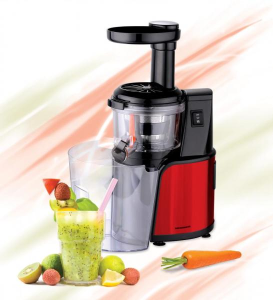Storcator de fructe cu melc Heinner HSJ-600RD, 150 W, 80 Rpm, functie reverse, Rosu/Inox 1